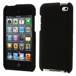 Black Rubberized Hard Snap-on Skin Case Cover Accessory for