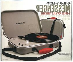 Crosley CR8016A-GY Messenger Portable Battery Powered 3-Spee
