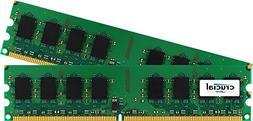 Crucial 4GB Kit  DDR2 800MHz  CL6 Unbuffered UDIMM 240-Pin D