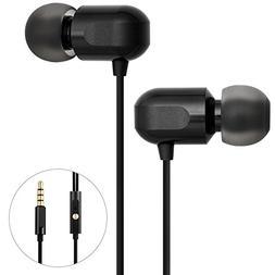 Earbuds, GGMM Headphones with Microphone Full Metal Headphon