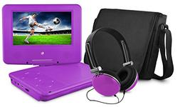 Ematic Personal DVD Player with 7-Inch Swivel Screen, Headph