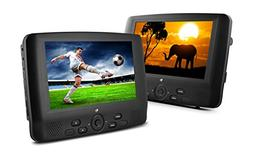 Ematic ED929D 9-Inch Dual Screen Portable DVD Player with Du