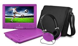Ematic EPD909PR 9-Inch Portable DVD Player with Matching Hea