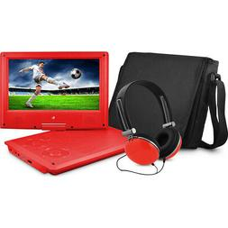 Ematic Portable DVD Player with 9-inch LCD Swivel Screen, Tr