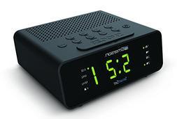 Emerson CKS1800 SmartSet Alarm Clock Radio with AM/FM Radio,