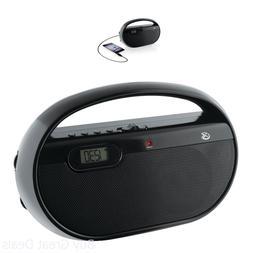 GPX, Inc. R602B Portable AM/FM Radio with Digital Clock and