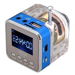 Haoponer Portable Mini Digital Display Screen Speaker USB Fl