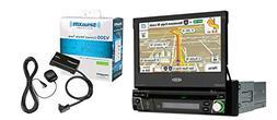 Jensen VX7010 Single Din In Dash Flip Out Navigation DVD CD