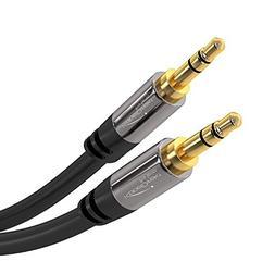 KabelDirekt Pro Series 6 feet  3.5mm Audio Aux Cord, 24k Gol