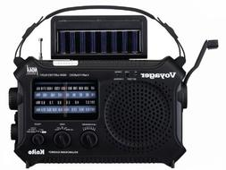 Kaito KA500IP-BLK Voyager Solar/Dynamo AM/FM/SW NOAA Weather