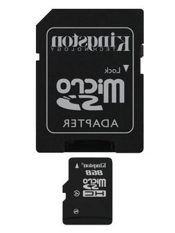 Kingston 8 GB microSDHC Class 4 Flash Memory Card SDC4/8GBET