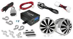 Lanzar Motorcycle Speaker and Amplifier System 700 Watt Weat