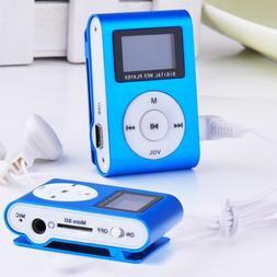 Metal Clip Digital MP3 Player FM Radio LCD Screen for 2/4/8/