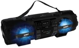 NAXA Electronics MP3/CD Bass Reflex Boombox and PA System wi
