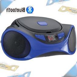 NEW Sylvania Blue Portable CD Player AM/FM Radio Boombox Ste