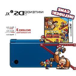 Nintendo DSi XL - Midnight Blue Bundle with Mario vs Donkey