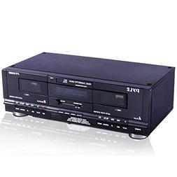 Pyle Home Digital Tuner Dual Cassette Deck | Media Player |