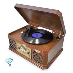 Bluetooth Compatible Classic Vintage Turntable - Retro Vinyl