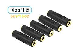 RuilingTM 5pcs Gold Plated 3.5mm Stereo Jack to 3.5mm Audio