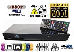 SONY Wi-Fi Upgraded Multi Region Zone Free Blu Ray DVD Playe