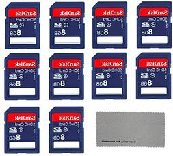 SanDisk 8 GB Class 4 SD Flash Memory Card - 10 Pack With Eve