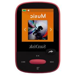 SanDisk Clip Sport 8GB MP3 Player, Pink With LCD Screen and