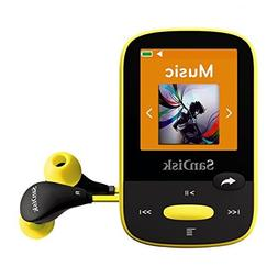SanDisk Clip Sport 8GB MP3 Player, Yellow With LCD Screen an