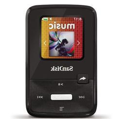 SanDisk Sansa Clip Zip 8GB MP3 Player, Black With Full-Color