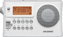 Sangean PR-D14 AM/FM-RDS Portable Receiver with USB-White