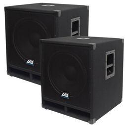 """Seismic Audio - Baby-Tremor-PKG1 - Pair of 15"""" Pro Audio Sub"""