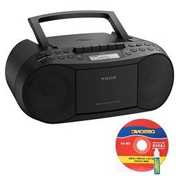 Sony CD/Cassette Boombox, Digital Tuner AM/FM Radio, Headpho