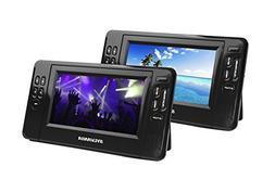 Sylvania 7-Inch Twin Mobile Dual Screen/Dual DVD Portable DV