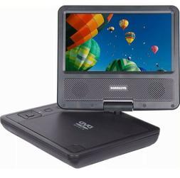 "Sylvania - 7"" Portable DVD Player with Swivel Screen - Black"