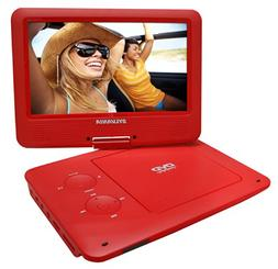 Sylvania 9-Inch Swivel Screen Portable DVD/CD/MP3 Player wit
