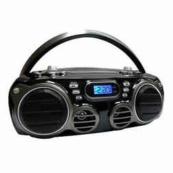 Sylvania Portable Bluetooth CD Radio BoomBox, Black
