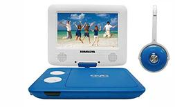 Sylvania SDVD7043-BLWHT 7-Inch Portable DVD Player with Matc
