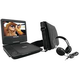 Sylvania SDVD7060-Combo-Black Portable DVD Player Bundle wit