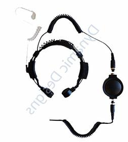 Tactical Throat Mic for Kenwood 2 Prong Plug