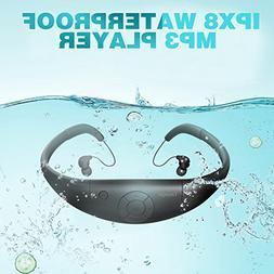Tayogo Waterproof MP3 Player, IPX8 Waterproof Headphones for