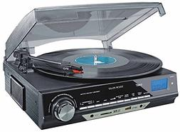 TechPlay ODC18-BS 3-Speed Turntable W/SD USB, MP3 Encoding S