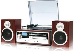 TechPlay 3-Speed Turntable with CD / MP3 / Cassette / SD Car