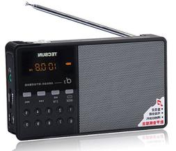 Tecsun D3 Rechargeable FM Radio with ETM, MP3 Player with Bu