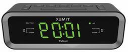 Timex T236BQX FM Dual Alarm Clock Radio with USB Mobile Devi