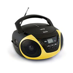 Tyler Portable Sport Stereo CD Player TAU101-YEL with AM/FM