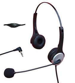 Voistek A2H20D25MM Dual Ear Call Center Telephone Headphone