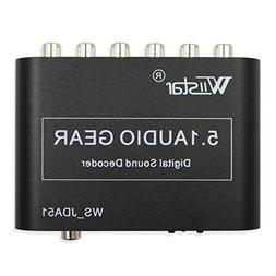 Wiistar 5.1 Audio Decoder Digital AC3 Optical to Stereo Surr