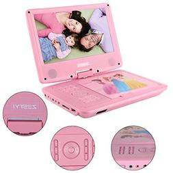 """ZESTYI 9"""" Portable DVD Player for Kids with Car Headrest Mou"""