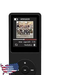 A02S MP3 Player with Micro SD Card Slot Black 16 GB iPods Pl