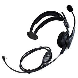 Tenq® Advance Adjustable Overhead Earpiece Headset Boom Mic