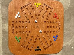 AGGRAVATION GAME BOARD  – SIX PLAYER SQUARE WOODEN GAME BO
